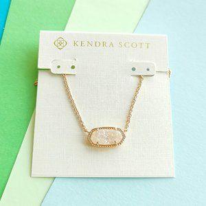 ELISA Kendra Scott drusy rose gold necklace